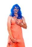 穿着异性服装热闹的异性装扮癖的人 免版税库存图片