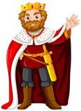 穿红色长袍的国王 向量例证