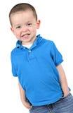 穿蓝衣的男孩 库存图片