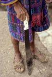 穿衣的危地马拉人传统上 库存图片
