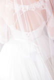 穿戴婚礼白色 免版税图库摄影