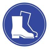 穿戴安全靴 库存照片