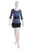 穿戴的时装模特衬衣裙子 免版税库存图片