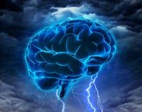 突发的灵感或智力强有力的概念 免版税库存图片