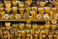 突尼斯义卖市场的小装饰品 免版税库存照片