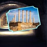 突尼斯的旅游照片拼贴画  库存图片