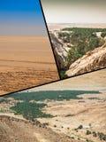 突尼斯的旅游照片拼贴画  免版税图库摄影