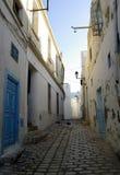 突尼斯空和肮脏的街道  库存照片
