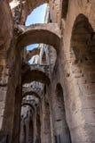 突尼斯,罗马剧院 免版税图库摄影