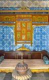 突尼斯,苏斯2016年9月19日 博物馆Dar Essid 一个古老阿拉伯房子的内部的片段 免版税库存图片