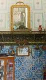 突尼斯,苏斯 2016年9月19日 博物馆Dar Essid 一个古老阿拉伯房子的内部的片段 库存图片
