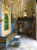 突尼斯,苏斯 2016年9月19日 博物馆Dar Essid 一个古老阿拉伯房子的内部 免版税库存图片