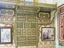突尼斯,苏斯 2016年9月19日 博物馆Dar Essid 一个古老阿拉伯房子的内部 免版税库存照片