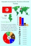 突尼斯 介绍的Infographics 世界的所有国家 库存例证