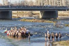 突然显现仪式在普罗夫迪夫,保加利亚 图库摄影