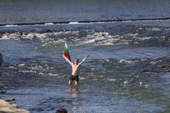 突然显现仪式在普罗夫迪夫,保加利亚 库存图片