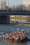 突然显现仪式在普罗夫迪夫,保加利亚 免版税库存照片