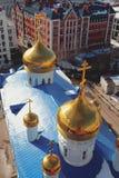 突然显现大教堂圆顶 喀山俄国 库存照片