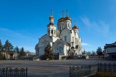 突然显现大教堂在格尔洛夫卡,乌克兰 免版税库存照片