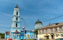 突然显现大教堂在Noginsk -莫斯科地区,俄罗斯 免版税库存图片