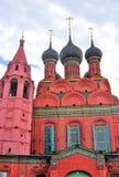突然显现教会在雅罗斯拉夫尔市(俄罗斯) 库存照片
