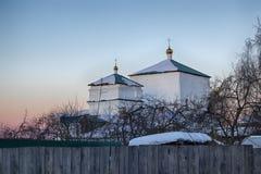 突然显现教会在Kolomna,建立在16世纪 图库摄影