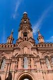 突然显现教会的钟楼在喀山,鞑靼斯坦共和国, Russi 免版税图库摄影
