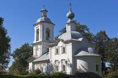 突然显现的寺庙在Belozersk,沃洛格达州地区镇  免版税库存照片