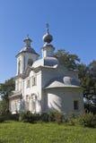 突然显现的教会在Belozersk沃洛格达州地区 免版税图库摄影