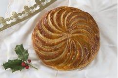 突然显现蛋糕galette des罗伊斯,国王蛋糕 库存图片