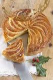 突然显现蛋糕galette des罗伊斯,国王蛋糕 免版税库存图片