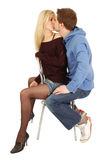 突然的亲吻 免版税图库摄影