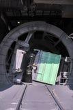 突然行动(打翻)无盖货车(有时两)和sp的设施 图库摄影