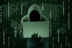 窃取网上信息 免版税库存图片