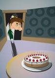 窃取蛋糕 库存照片
