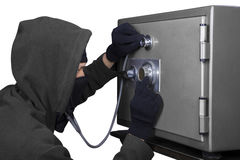 窃贼打开号码锁 免版税图库摄影