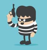 窃贼有枪 库存例证