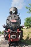 窄片铁路的机车 免版税库存图片