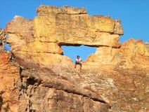 窗口伊萨卢国家公园在马达加斯加 库存照片