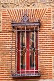 窗口住处de西内罗Plaza de la Villa马德里西班牙 库存照片