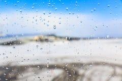窗口冬天视图  免版税库存图片