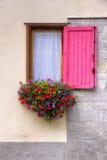 窗口和花 免版税库存照片