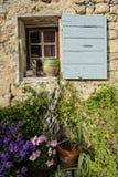 窗口和围场在普罗旺斯 免版税库存照片
