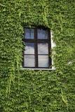 窗口在农村房子里 免版税库存照片