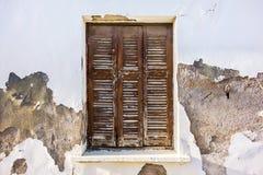 窗口在老议院里 库存图片