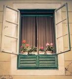 窗口在老镇萨格勒布 库存照片