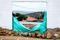 窗口在Barichara 免版税库存图片