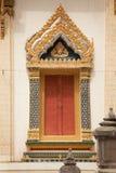 窗口寺庙在泰国 免版税库存照片