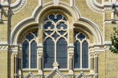 窗口寺庙犹太教堂 库存照片