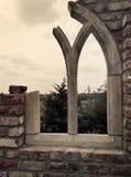 窗口废墟 库存图片